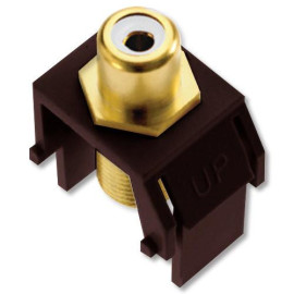 On-Q/Legrand White RCA to F-Type Coax Keystone Connector, Brown