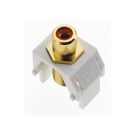 On-Q/Legrand Red RCA to F-Type Coax Keystone Connector, White