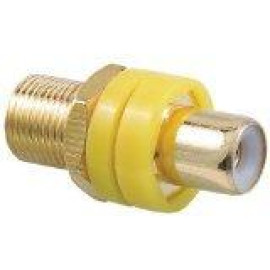 OEM Systems Pro-Wire Modular Connector, RCA Front with Coax Back, Yellow