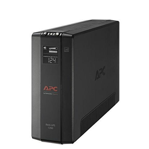 APC UPS, 1350VA Battery Backup & Surge Protector with AVR, Back-UPS Pro Uninterruptible Power Supply (BX1350M)