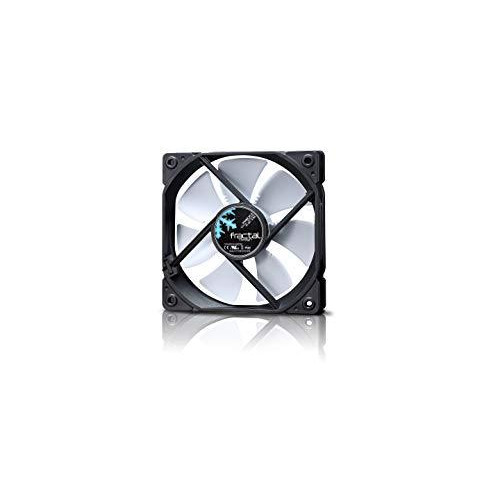 Fractal Design Dynamic GP-12 Computer Fan - Silent Fan - High Airflow - 120x120x25 mm - 1200RPM - Hydraulic Fdb Bearings - Trip Wire - Aerodynamically Shaped Struts - 12V - White (Single)