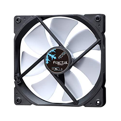 Fractal Design Dynamic X2 GP-14 Computer Fan - Silent Fan - High Airflow - 140x140x25 mm - 1000RPM - Hydraulic Fdb Bearings - Trip Wire - Aerodynamically Shaped Struts - 12V - White (Single)