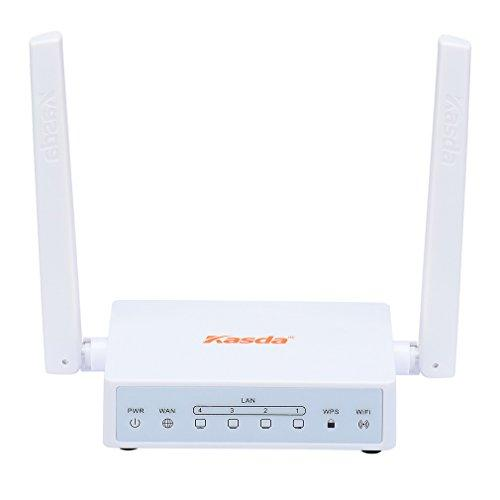 Kasda N300 WiFi Router, Easy Setup via Cellphone, 5dBi High Gain Antenna, High Speed Wireless Router for Home / Office (N300 / KW5515 Link Smart)