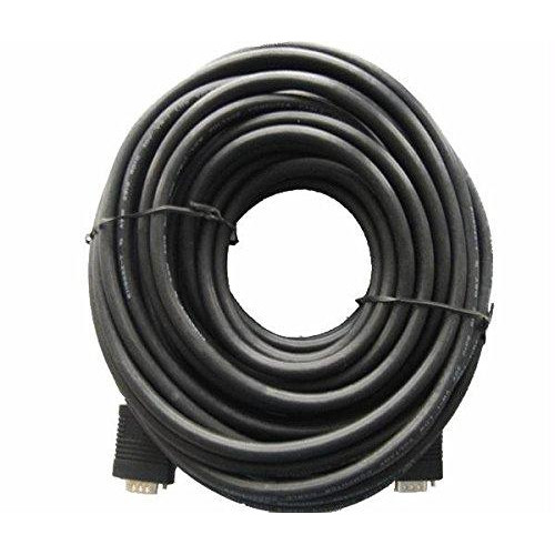 iMicro SVGA-HD15-MM50 50ft HD15 Male to HD15 Male SVGA Cable - Black SVGA-HD15-MM50RFB