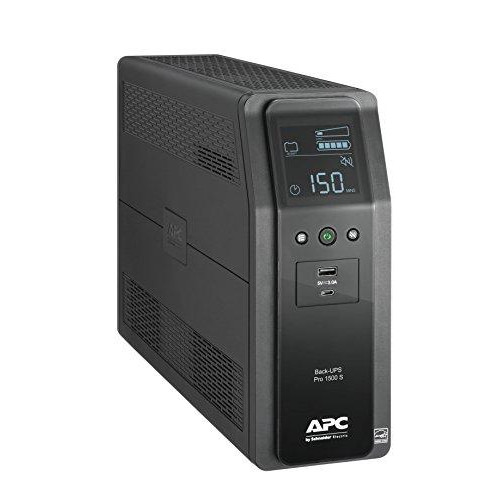 APC Sine Wave UPS, 1500VA UPS Battery Backup & Surge Protector, Back-UPS Pro Uninterruptible Power Supply (BR1500MS)