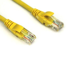 Vcom 5-Feet Cat5E Molded Patch Cable, Yellow (NP511-5-YELLOW)