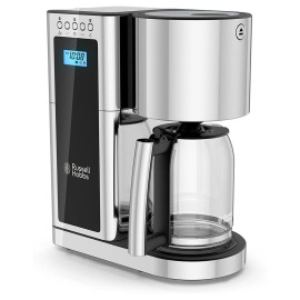 Russell Hobbs Glass 8 Cup Coffeemaker In Black And Stainless Steel