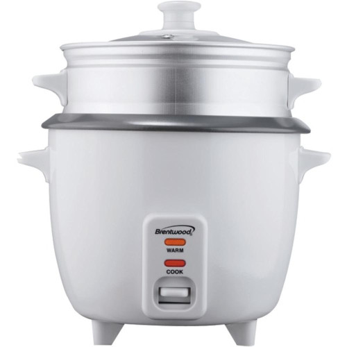 Brentwood Appliances Ts-600S Rice Cooker With Food Steamer (5 Cups, 400 Watts)