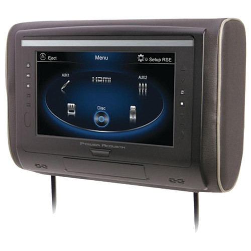 """Power Acoustik H-94 9"""" Lcd Universal Headrest With Ir And Fm Transmitters And 3 Interchangeable Skins (Monitor Only)"""