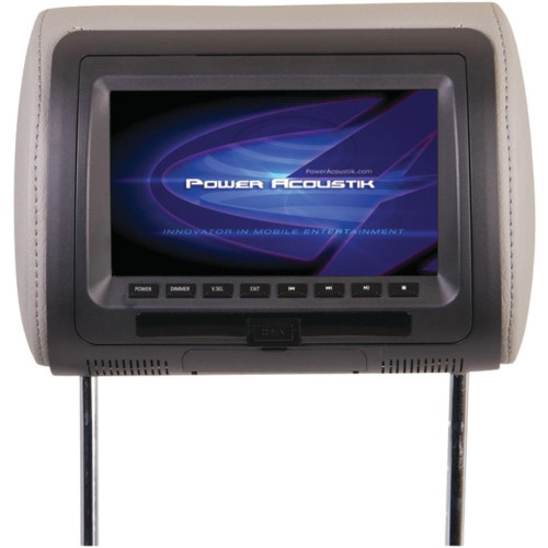 """Power Acoustik Hdvd-71Cc 7"""" Lcd Universal Headrest Monitor With Dvd, Ir And Fm Transmitters And 3 Interchangeable Skins"""