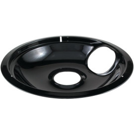 """Stanco Metal Products 414-8 Black Porcelain Replacement Drip Pan (8"""")"""