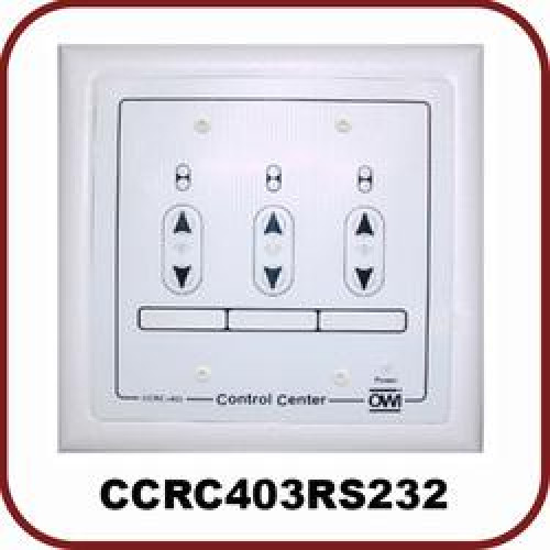 Control Center, Room Combo Up To 3 Rooms, 25 Watts - 4 Ohms 3 Balanced Mic/Line And One Direct To Mix Buss Inputs, 15 V Dc, 2 Gang Electrical Box, W/ Rs232 Cable ( Limited Quantity )