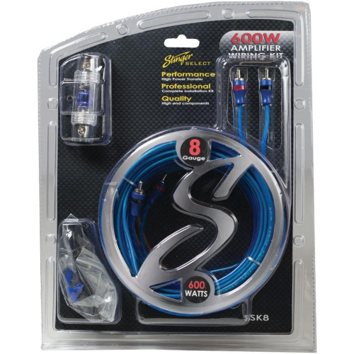 Select Wiring Kit With Ultra-Flexible Copper-Clad Aluminum Cables (8 Gauge)