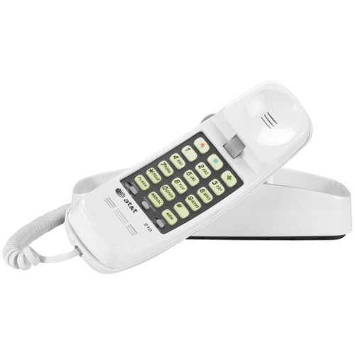 Corded Trimline(R) Phone With Lighted Keypad (White)