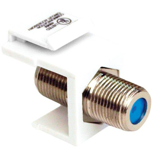 Keystone Jack With 2.4Ghz F-Connector (White)