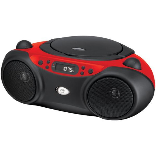 Sporty Cd & Radio Boom Box (Red)