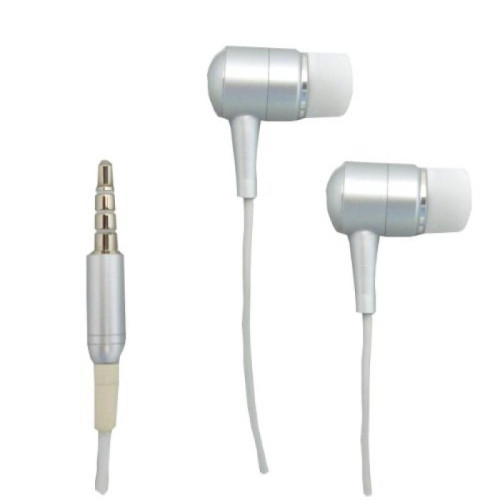 Replacement stereo headset with Mic / headphones - Silver/White