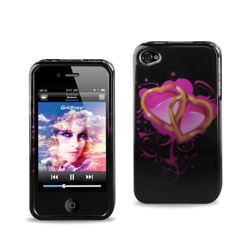 2D Protector Cover IPHONE 4S TWO CROSSING HEARTS