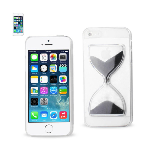 Design Clear Protector Cover iPhone5s Black sandglass
