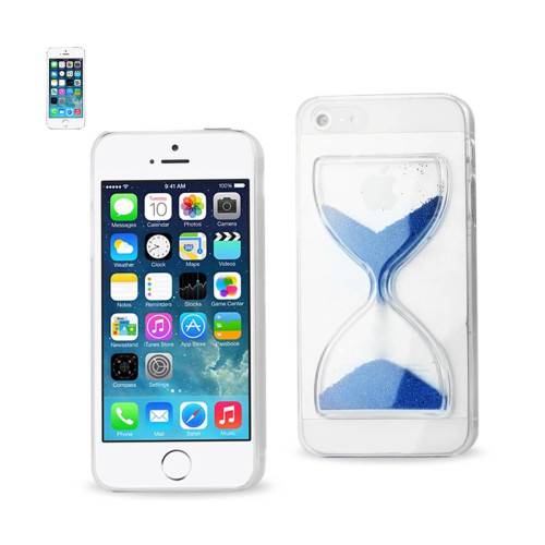 Design Clear Protector Cover iPhone5s Navy sandglass