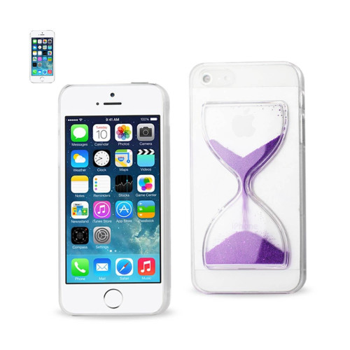 Design Clear Protector Cover iPhone5s Purple sandglass