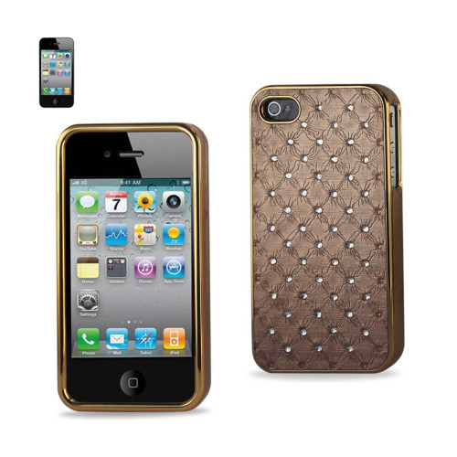 Diamond Leather Protector Cover iPhone4/4S Soft Quilt Beige