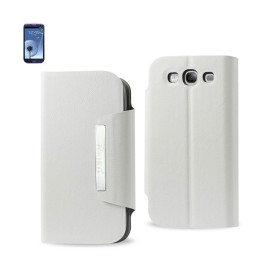 MAGNET FLIP SMOOTH LEATHER CASE SAMSUNG GALAXY S3 I9300