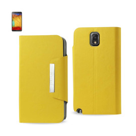 MAGNET FLIP SMOOTH LEATHER CASE SAMSUNG GALAXY NOTE 3 YELLOW