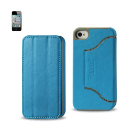 FITTING Case iphone 4 HORSE SKIN TEXTURE BLUE