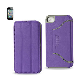 FITTING Case iphone 4 HORSE SKIN TEXTURE PURPLE