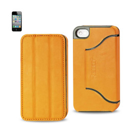 FITTING Case iphone 4 HORSE SKIN TEXTURE YELLOW