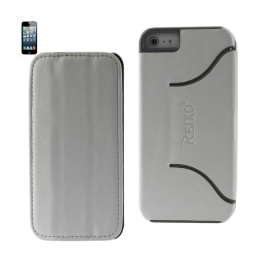 FITTING Case iphone 5 HORSE SKIN TEXTURE WHITE