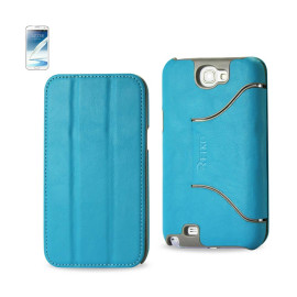 FITTING Case Samsung Note II N7100 HORSE SKIN TEXTURE BLUE