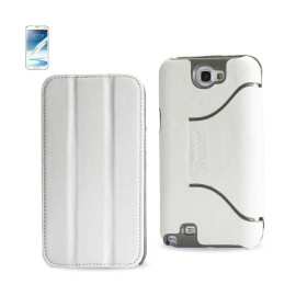 FITTING Case Samsung Note II N7100 HORSE SKIN TEXTURE WHITE