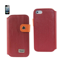 Buckle Flip Case IPHONE 5 GLOVE LEATHER RED