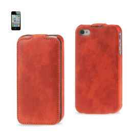 FITTING Case Apple iPhone 4/4S HORSE SKIN PATTERN ORANGE