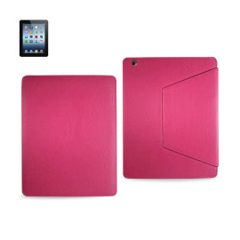 FITTING CASE TRAPEZOID CLIP IPAD3 GLOVE LEATHER HOT PINK