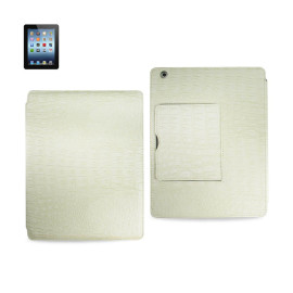 FITTING CASE WITH SMALL POCKET IPAD3 CROCODILE BEIGE