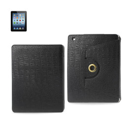 FITTING CASE TRAPEZOID CLIP IPAD3 CROCODILE BLACK
