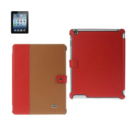 FITTING CASE IPAD3 COW SKIN PATTERN RED BROWN