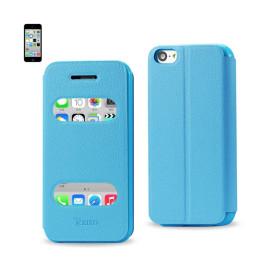 FITTING CASE LYCHEE PATTERN FOR IPHONE5C BLUE