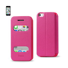 FITTING CASE LYCHEE PATTERN FOR IPHONE5C HOT PINK