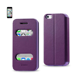 FITTING CASE LYCHEE PATTERN FOR IPHONE5C PURPLE