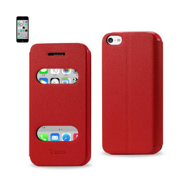 FITTING CASE LYCHEE PATTERN FOR IPHONE5C RED