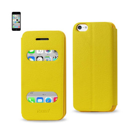 FITTING CASE LYCHEE PATTERN FOR IPHONE5C YELLOW