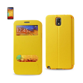 FITTING CASE LYCHEE PATTERN FOR Samsung Galaxy NOTE 3 YELLO