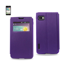 FITTING CASE WITH TPU MATERIAL LG Optimus F3 MS659 PURPLE