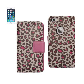 WALLET CASE 3 IN 1 FOR IPHONE5 LEOPARD PATTERN HOT PINK