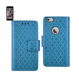WALLET CASE 3 IN 1 FOR IPHONE6 PLUS 5.5INCH RHOMBUS PATTERN