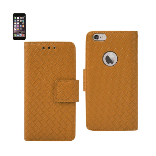 WALLET CASE 3 IN 1 FOR IPHONE6 4.7inch BRAIDED PATTERN YELLO